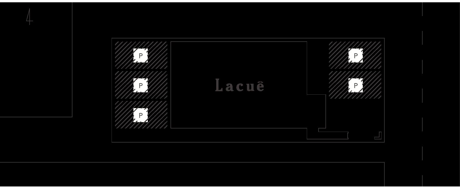 Lacueの駐車場について
